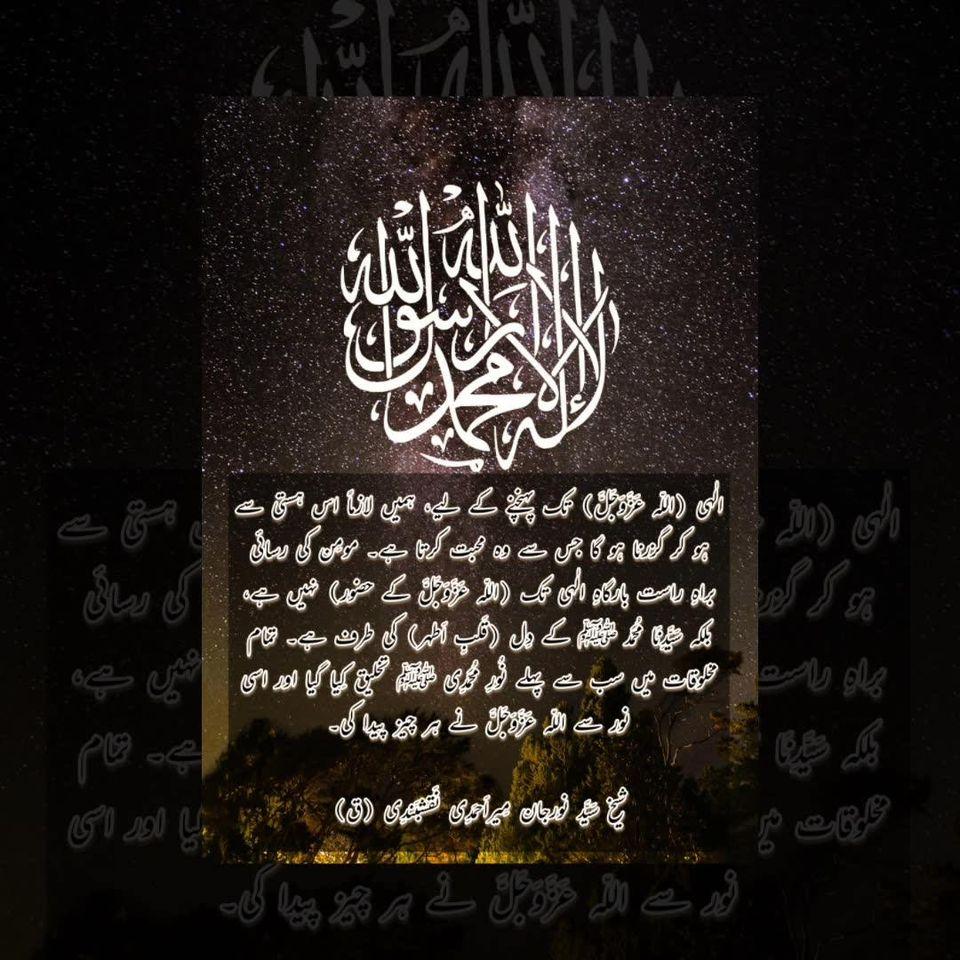 شیخ سَیَّد نورجان مِیراَحمَدِی نَقشبَندِی (ق) کی سنہری تعلیمات
