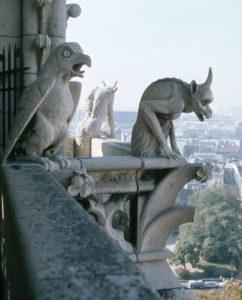 3 Gargoyles in Paris, devil, satan -Jul-5-2012