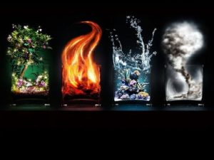 4 elements in glasses