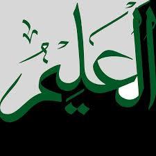 Al Aleem - All Knoiwng - clear Ayn - Green & blk