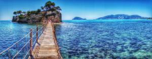 Bridge to Cameo island Zakynthos Greece