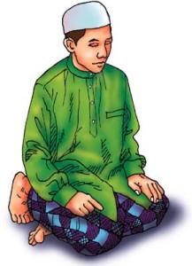 Salah, Salat, sitting positon, attahiyat - Dal