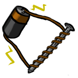 Electromagnetism-battery charging nail with coil