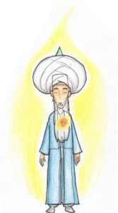 Meditation Fana in Shaykh turban, Heart energy