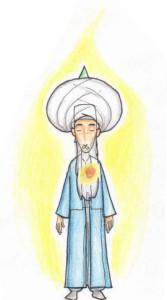 Meditation Fana in Shaykh turban, Heart energy
