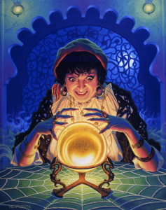 Fortune-Teller-Scaryo - psychic il-painting-16-x-20