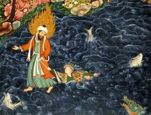 Hazrat Khizr saving man,fish,monsters,