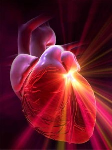 Heart emanating light
