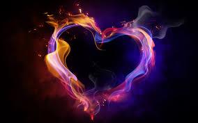 Heart shape with light