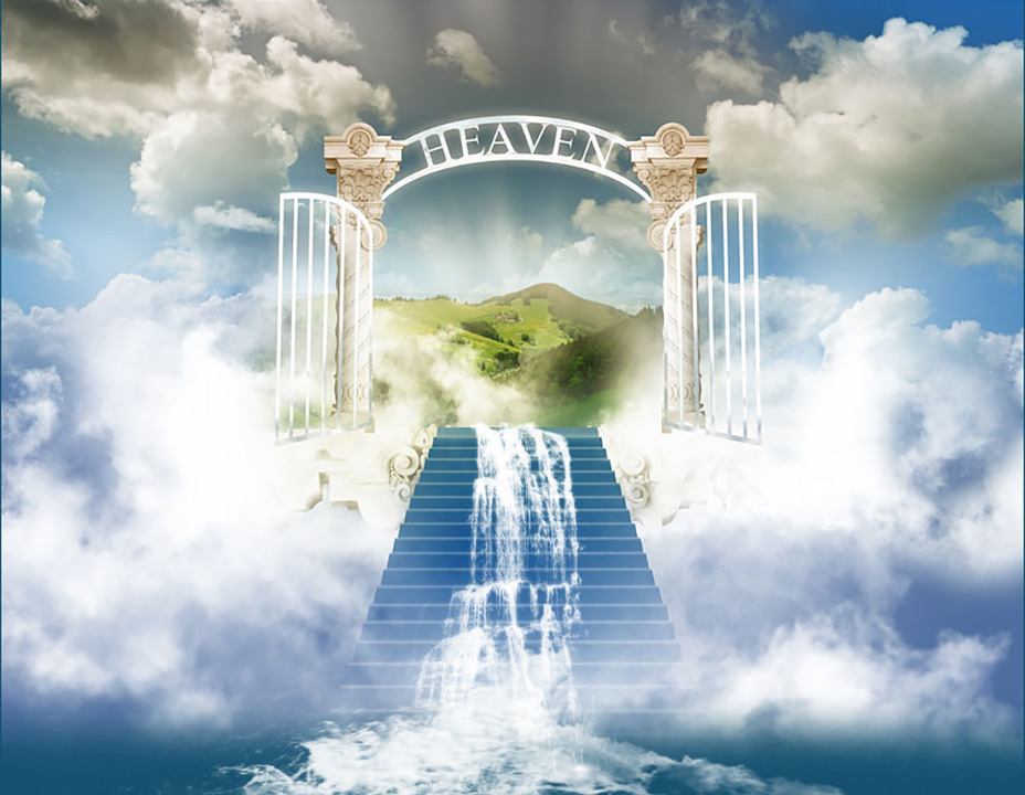 Heavens Gates water pouring forth