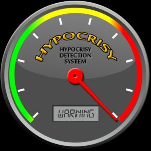 Hypocrisy Meter Red