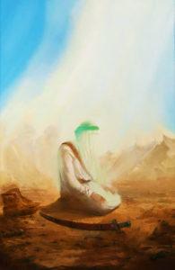Imam Ali (as) praying namaz