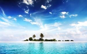 Island - clear water