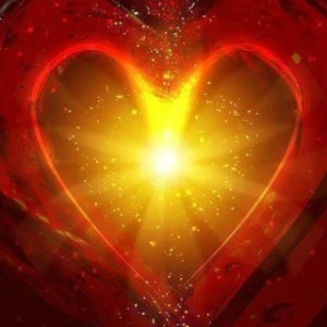 Light emanating from heart