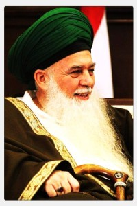 Shaykh MSH like a King, with ring and Asa, stick