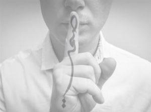 Man Shh Finger with Samt Arabic Overlay