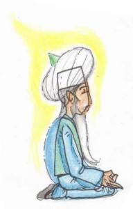 Meditation Muraqabah dress of guide on you
