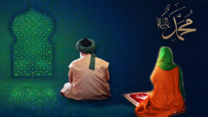 Shaykh Nurjan in Meditation with student behind him