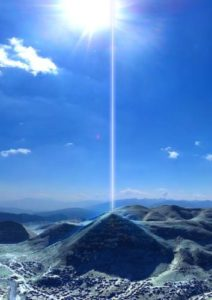 Pyramid - energy & light coming out from top