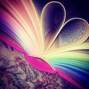 Quran folded in heart shape