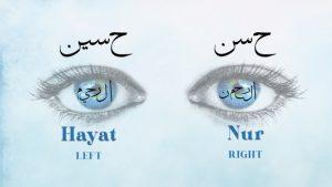 Reality of the Eyes Rahman-Raheem- Hassan (as)-Hussain (as) Insan Kamil