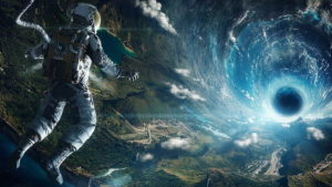 Scuba diver in space,sucba diving,breathing system,madad concept
