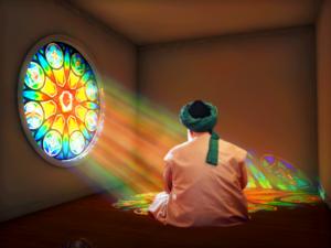 Shaykh Nurjan Mirahmadi meditating