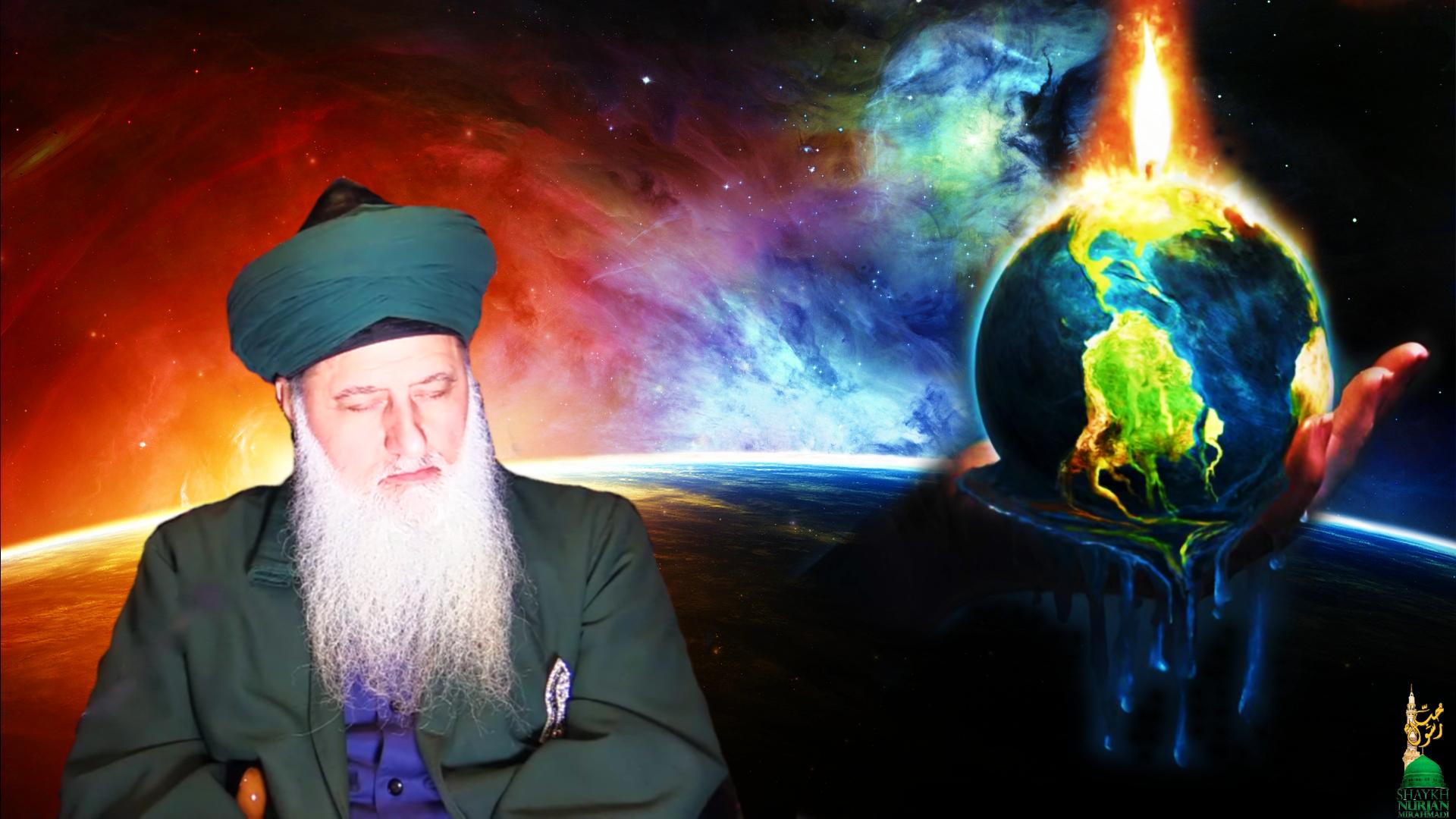 Shaykh Nurjan Mirahmadi melting earth,logo,last days