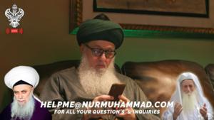 Shaykh Nurjan reading comments live broadcast, Helpme@nurmuhammad.com