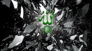 Truth Has Arrived smaller green Allah MUhammamad sws