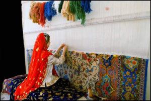 Weaving Persian Carpet