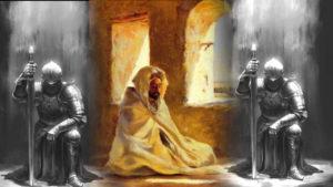 angels guarding mediating man, mureed
