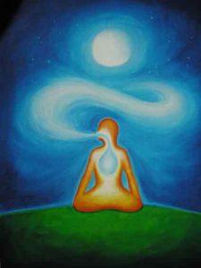 breathing in light, meditation, breath,