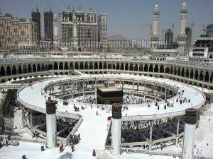 Busy kabbah, bridges around kaabah, tawwaf, Mecca, Makkah