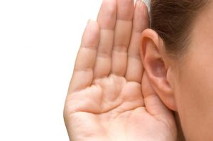 hand on ear listening