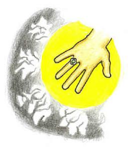 Sunnah ring, hand, light muraqabah meditatrion