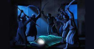 imam-ali-hides-in-bed-of-Prophet-s
