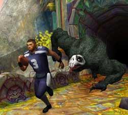 linebacker running from demon