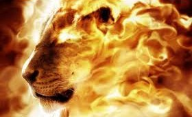 lion of Divine - Asad Allah Ghalib - fire