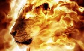 lion of Divine - Asad Allah Ghalib - fire