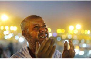 man crying in prayer to Allah