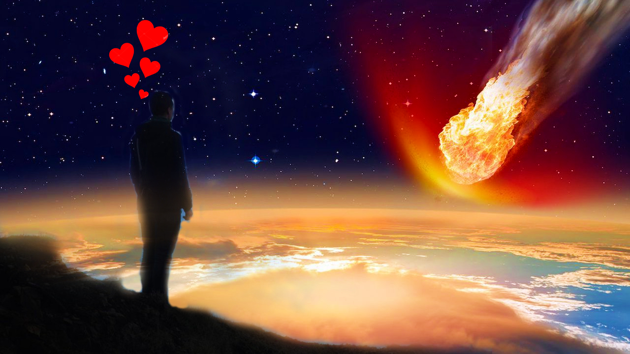 man looking for love, world ending
