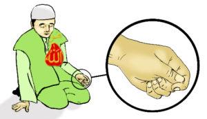 tafakkur, meditation, holding pulse, thumb, allah hu heart,