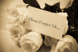 please forgive me note with roses asking forgiveness from others
