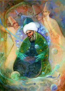 shaykh meditating,in zhikr, sufi dervish