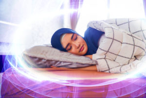 sleeping head covered, energy protection,