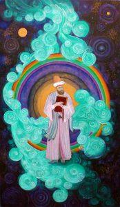 sufi saint with books, alim,mysticism
