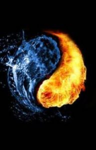 yin and yang, fire and water, positive and negative energies, balance